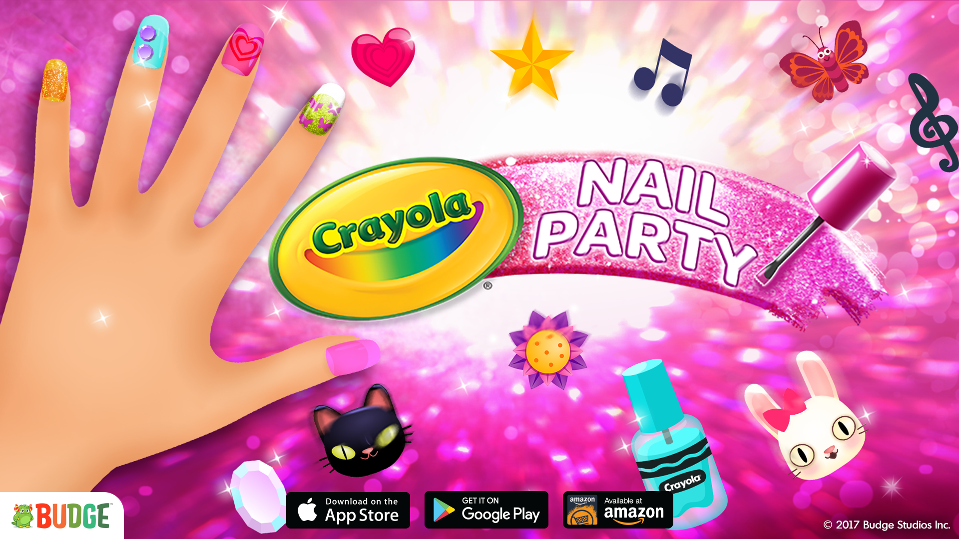 Crayola Nail Party - Budge Studios—Mobile Apps For Kids