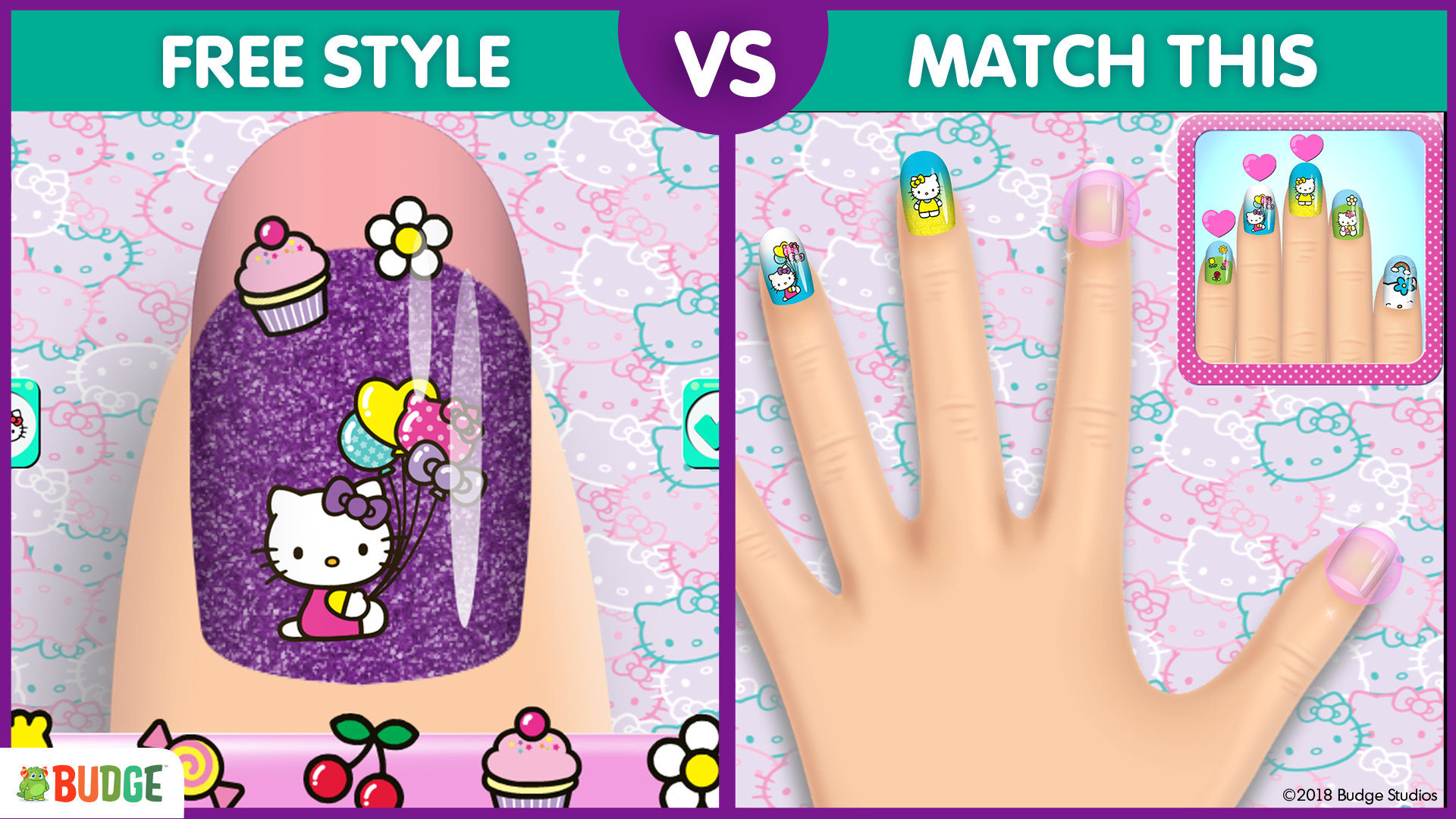 Hello Kitty Nail Salon - Budge Studios—Mobile Apps For Kids